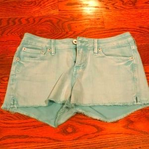 Women's Turquoise Jean Shorts - Great 4 concerts!!